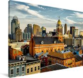 De architectuur van Cincinnati in de Verenigde Staten Canvas 60x40 cm - Foto print op Canvas schilderij (Wanddecoratie woonkamer / slaapkamer)