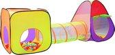 Iglo kindertent met tunnel + 200 ballen + tas speeltent ballenbak speelhuis