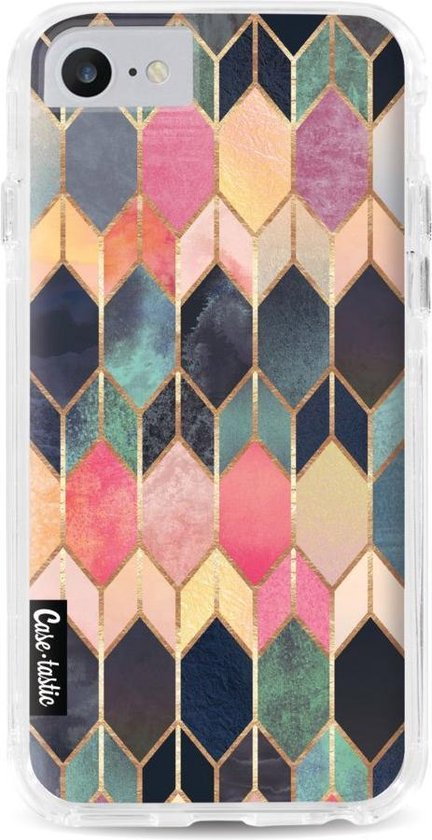 Apple iPhone 7 / iPhone 8 / iPhone SE (2020) hoesje Stained Glass Multi Casetastic Smartphone Hoesje Hard Cover case