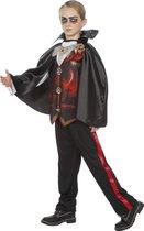 Vampier & Dracula Kostuum | Dracula Zuigbloed | Jongen | Maat 128 | Halloween | Verkleedkleding