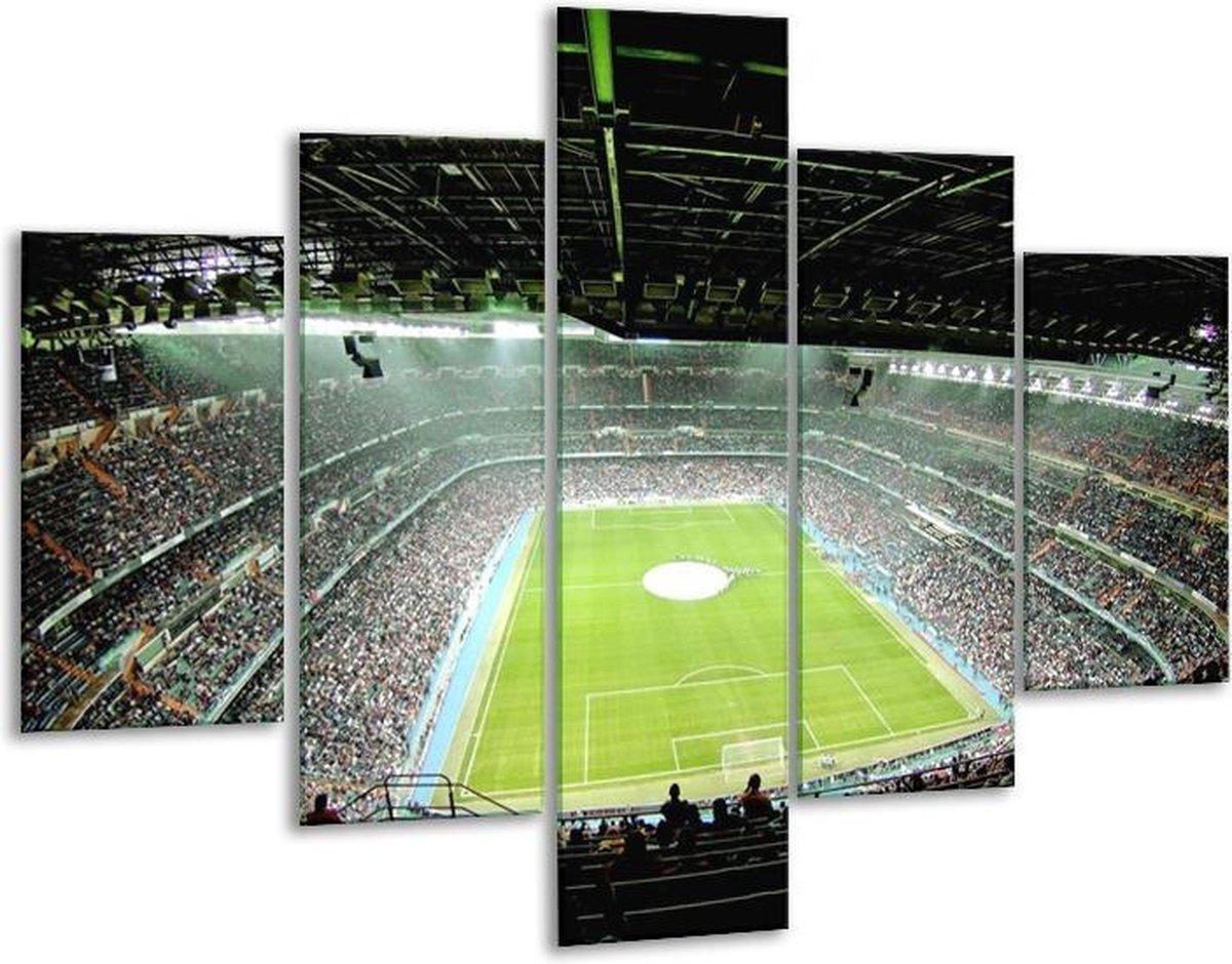 Glasschilderij Stadion | Groen | 100x70cm 5Luik | Foto print op Glas |  F006108