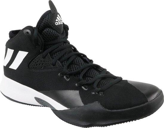 adidas Dual Threat 2017 BY4182, Mannen, Zwart, Basketbalschoenen maat: 46 2/3 EU - adidas