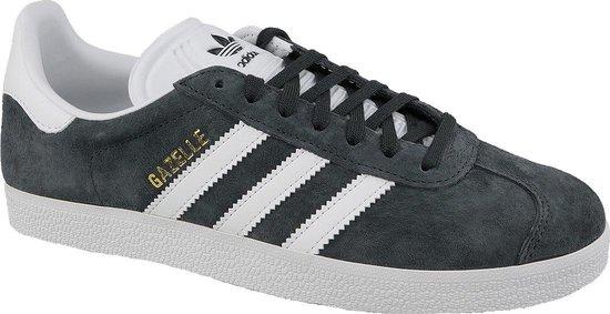 adidas Gazelle Heren Sneakers - Dgh Solid Grey/White/Gold Met. - Maat 44 2/3