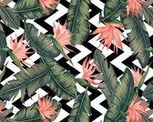 Vinyl Placemat | Palm leaves | 6 stuks (1 gratis)