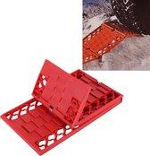SHUNWEI SD-X001 Auto Tractiemat Opvouwbaar Auto Escaper Buddy Antislipmatten Winterwegen Directe grip Bandenset Sneeuw modder (rood)