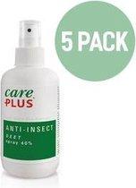 5x Care Plus Deet 40% spray 100 ml - muggenspray met 40% deet biedt tot wel 8 uur bescherming tegen steken en beten - Voordeelverpakking