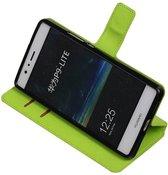 Wicked Narwal | Cross Pattern TPU bookstyle / book case/ wallet case voor Huawei P9 Lite Groen