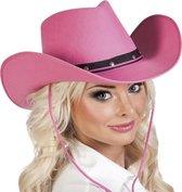 Roze cowboyhoed Wichita voor dames - Verkleedkleding - Themafeest