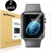 Screenprotector Glas geschikt voor Apple Watch 42mm - 2 Stuks
