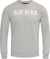 Blue Black Amsterdam Heren Trui Milan 2.0 - Grijs Melange - Maat L
