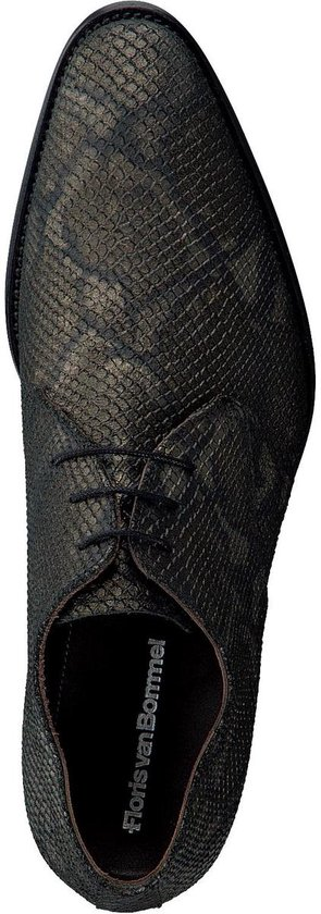 Floris van Bommel Veterschoenen slangenprint - Maat 44
