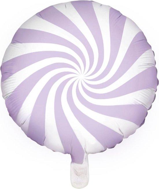 Helium Ballon Lila Swirl 45cm leeg