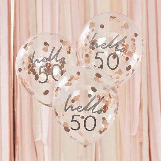 Mix It UP - Confetti Ballonnen HELLO 50 (5 stuks)