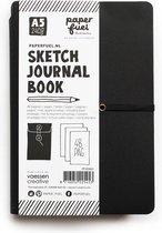 Paperfuel Sketch Journal Book A5, 48 pagina's, 240 gr papier, Witte Bladzijdes, Schetsboek voor Handlettering, Schetsen, Tekenen en andere Creaties