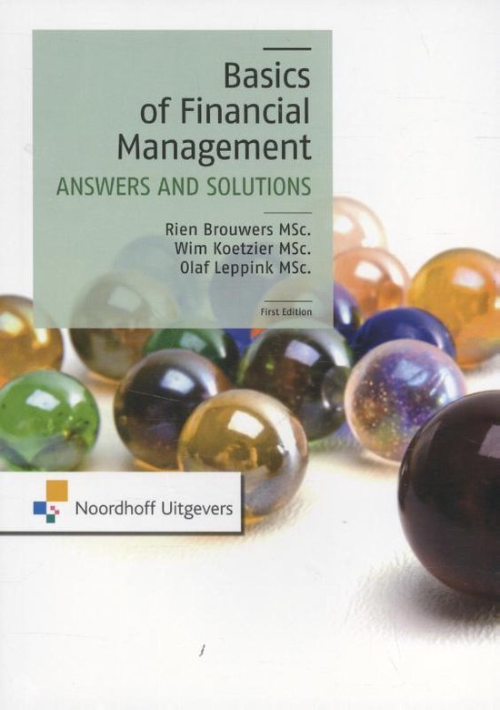 The Basics of financial management-answers and solutions - M.P. Brouwers |