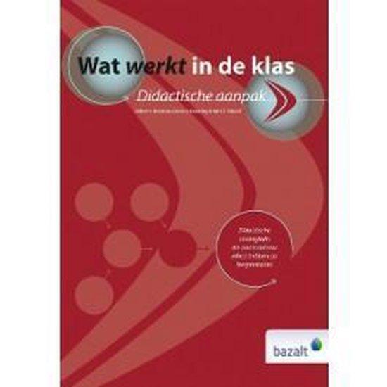 Boek cover Wat werkt in de klas van Robert J. Marzano (Hardcover)