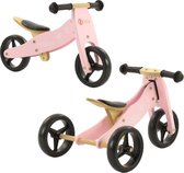 2Cycle 2 -in-1 Loopfiets en Driewieler - Hout - Roze