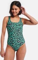 Shiwi Ladies swimsuit Luxe leopard - groen - 40