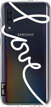 Samsung Galaxy A50 (2019) hoesje Written Love White Casetastic Smartphone Hoesje softcover case