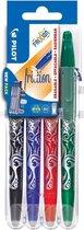 Pilot FriXion - Rollerball pennenset - Zwart, Blauw, Groen, Rood - per 4 verpakt