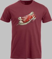 T-shirt M Lage sneakers in rood - Rood - M - M Sportshirt