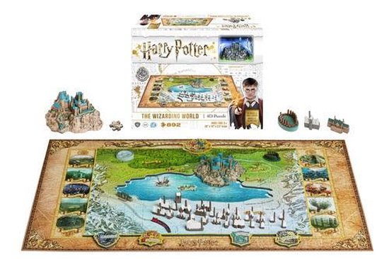 4D Cityscape Wizarding World of Hogwarts and Hogmead 3D-puzzel