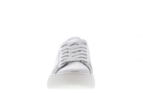 Tango | Ingeborg 6-d Silver Leather Stitched Details Sneaker - White Sole Maat: 36 G6bomO