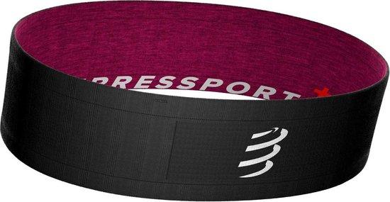 Compressport Free Belt Zwart-Roze