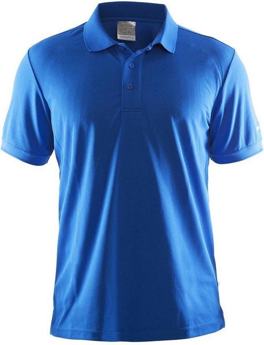 Craft Polo Shirt Pique Classic Heren Blauw maat L