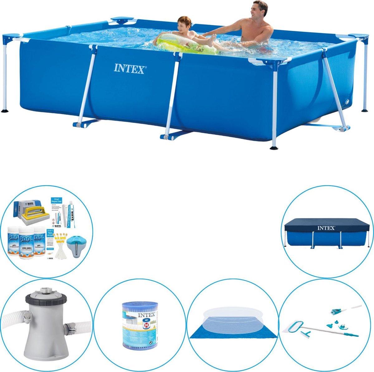 Intex Frame Pool Rechthoekig 260x160x65 cm - Zwembad Met Accessoires