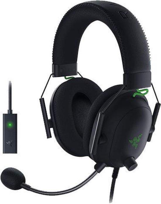 Razer Blackshark V2 Gaming Headset + USB Mic Enhancer - PC - Zwart