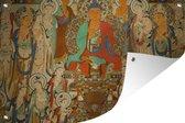 Tuinposter Chinese mythologie - Schildering in grot 60x40 cm - Tuindoek/Buitencanvas/Schilderijen voor buiten (tuin decoratie)