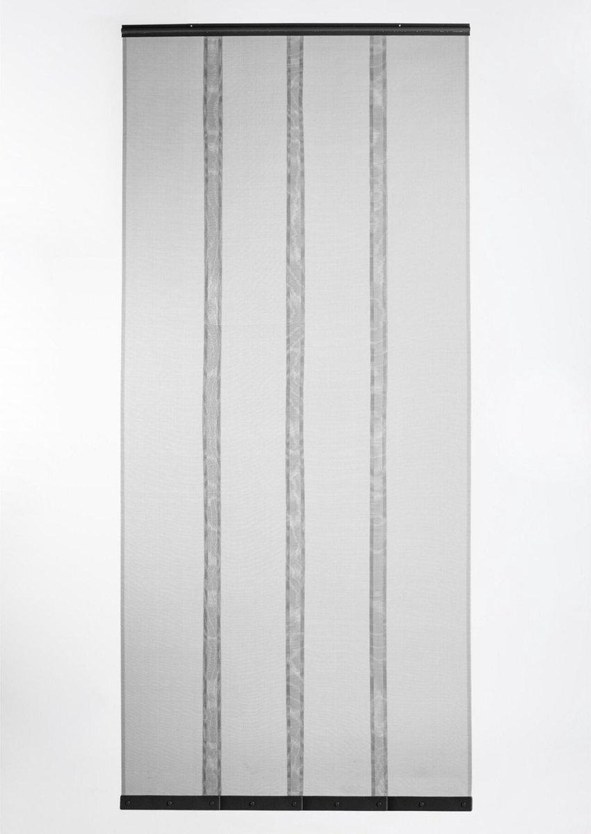 Horgordijn Lamellen Zwart Vliegengordijn deur - 100 x 210 cm