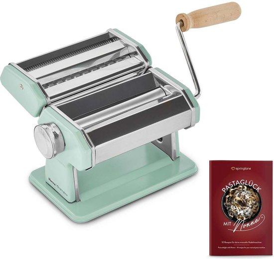 Springlane Pastamachine   Noodle machine incl. droger van hout & Engels...