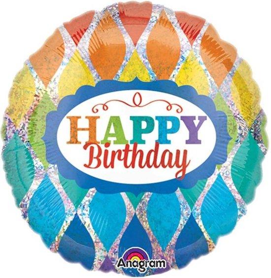 Folieballon 'Happy Birthday' Multicolor - 46 centimeter