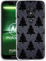 Moto G7 Play Hoesje Snowy Christmas Trees