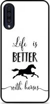 Galaxy A30s Hardcase hoesje Life is Better with Horses