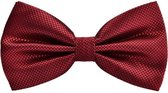 Fako Fashion® - Vlinderstrik - Vlinderdas - Raster - 12cm - Bordeaux Rood