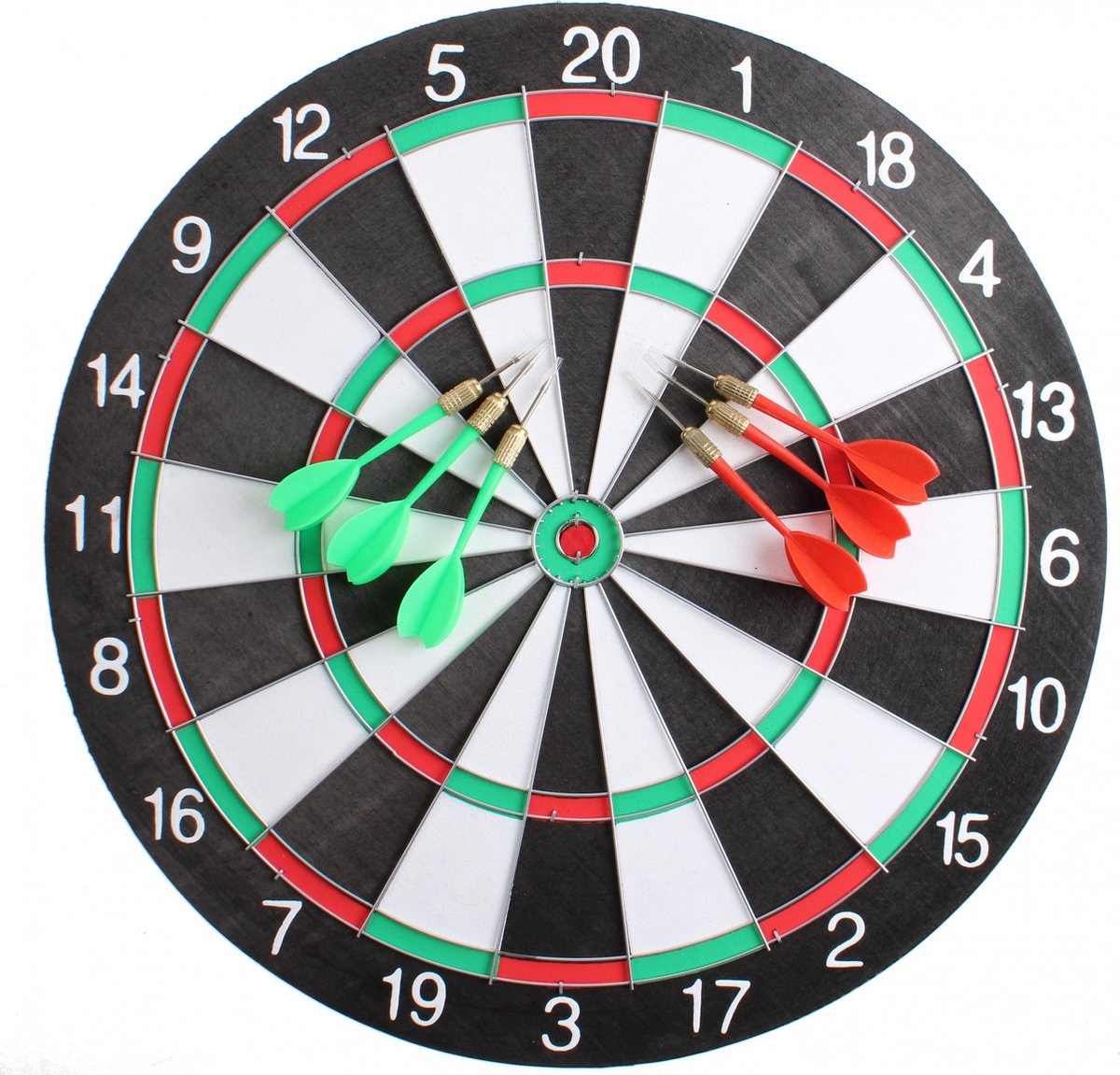 Master Darts Dartbord 40,5 Cm Met 6 Pijlen