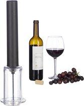 relaxdays kurkentrekker luchtdruk - flessenopener - wijnfles opener - wijn opener - zwart