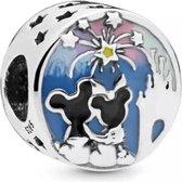 Zilveren Bedels Disney | Bedel Mickey en Minnie | Happy Ever After | 925 Sterling Zilver | Bedels Charms Beads | Past altijd op je Pandora armband | Direct snel leverbaar | Miss Charming