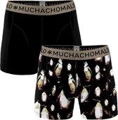 Muchachomalo 2-pack boxershorts - zwart/print