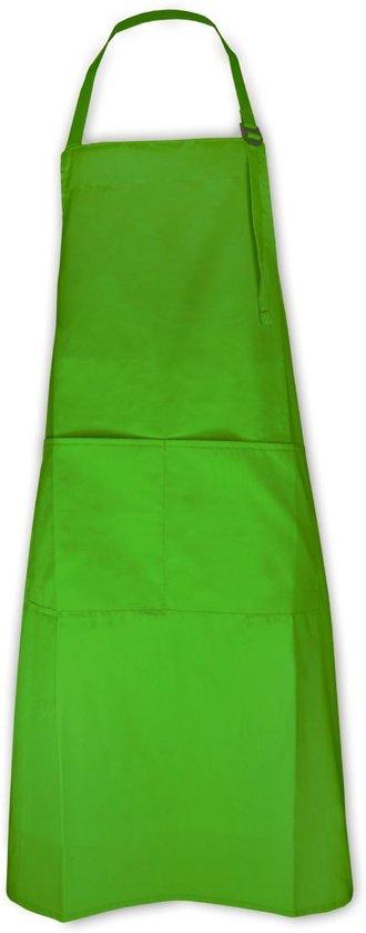 Keukenpakket Lime Groen: 1 Apron schort, 2 ovenwanten, 2 pannenlappen en 1 theedoek