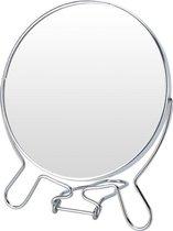 Vergrotende make-up spiegel dubbelzijdig 12,5 cm - Grimeer/make-up spiegels - Opmaken - Vergrootspiegel