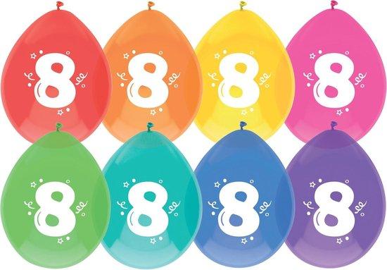 Ballonnen 8 jaar pak a 6 a stuks