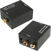 Digitale optische coaxiale Toslink naar analoge RCA Audio Converter (zwart)