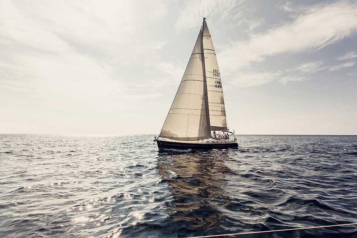Fotokunst | Schilderij - Natuur - Sailing Boat - 90 x 60 cm - Plexiglas of Dibond - Wanddecoratie - Xi Art
