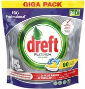 Dreft Platinum - All in One Lemon - 90 stuks -Vaatwastabletten