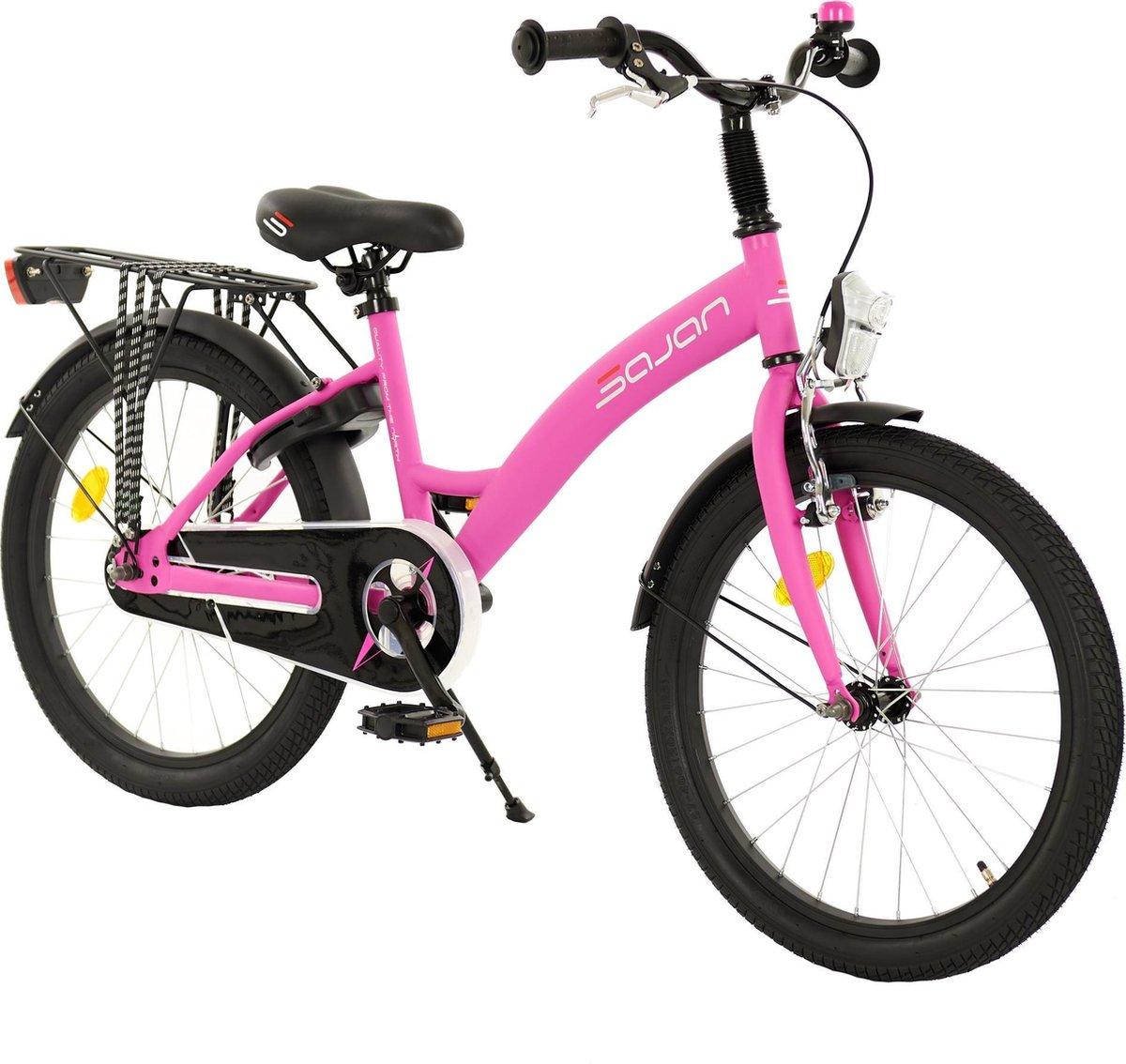 Sajan meisjesfiets - 20 inch - Mat-Roze - Meisjesfiets