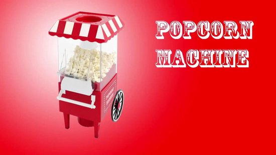 United Entertainment - Popcorn Machine - Klassiek Design - Popcorn Maker - Retro Design